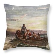 The Escape Of Mary Queen Of Scots Throw Pillow