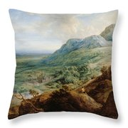 The Escorial, From A Foothill Throw Pillow