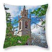 The Estrela Basilica In Lisbon Throw Pillow