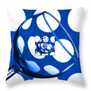 The Eternal Glass Blue Throw Pillow