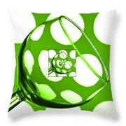 The Eternal Glass Green Throw Pillow