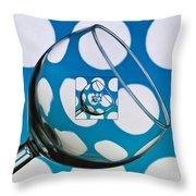 The Eternal Glass Light Blue Throw Pillow