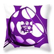 The Eternal Glass Purple Throw Pillow