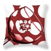 The Eternal Glass Red Throw Pillow