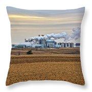 The Ethanol Plant Throw Pillow