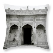 The Ethereal Temple Throw Pillow