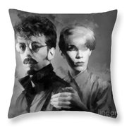 The Eurythmics Throw Pillow