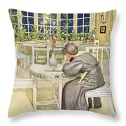 The Evening Before The Journey Throw Pillow
