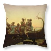 The Evening Throw Pillow by Charles Gleyre