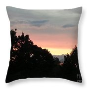 The Evening Sky Throw Pillow