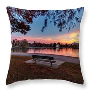 The Evening View Revisited Throw Pillow