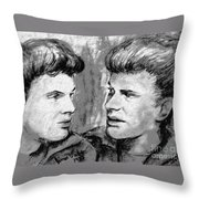 The Everlys In Monochrome Throw Pillow