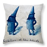 The Evolution Of The Artist Throw Pillow