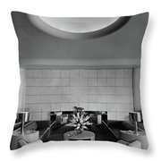 The Executive Lounge At The Ford Exposition Throw Pillow