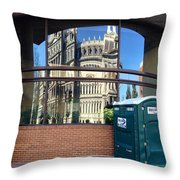 The Executive Office Building Reflection  Throw Pillow