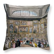 The Exhibition Room At Somerset House Throw Pillow