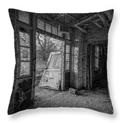 The Exit Bw Throw Pillow