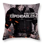 The Expendables 2 Stallone Throw Pillow