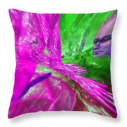 The Explosion Of Longing Throw Pillow