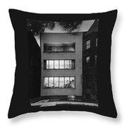 The Exterior Of A Modern Townhouse Throw Pillow