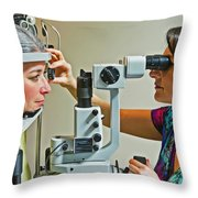 The Eye Doctor Throw Pillow