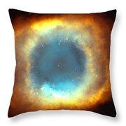 The Eye Of God-helix Nebula Close Up Throw Pillow