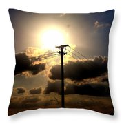 The Eye Of The Evening Sun Throw Pillow