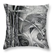 The Eye Of The Fomorii - Regrouping For The Battle Throw Pillow