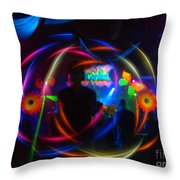 The Eye Of The Rave Throw Pillow