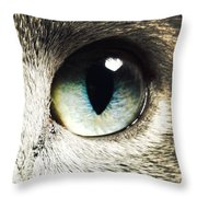 The Eye Of The Russian Blue Throw Pillow