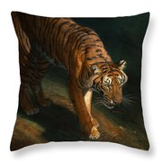 The Eye Of The Tiger Throw Pillow