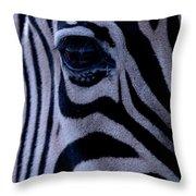 The Eye Of The Zebra Throw Pillow