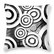 The Eyes Have It - Dramatic Film Noir Version Throw Pillow