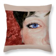 The Eyes Have It - Nicole Throw Pillow