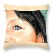 The Eyes Have It - Tami Throw Pillow