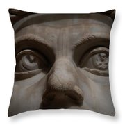 The Eyes Of Constantine Throw Pillow