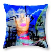 The Eyes Of Miss Coney Island Throw Pillow