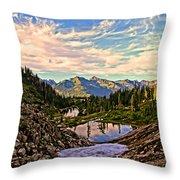 The Eyes Of The Mountain. Throw Pillow