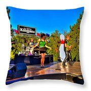 The Fabulous Kingpins Throw Pillow