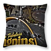 The Fabulous Kingpins Drums Throw Pillow