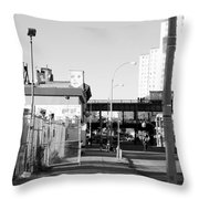 The Face In Black And White Throw Pillow