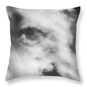 The Face In The Clouds Throw Pillow
