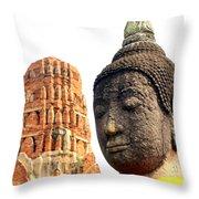 The Face Of A Buddha Throw Pillow