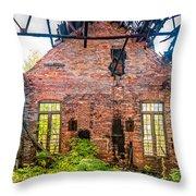 The Factory Interior Throw Pillow
