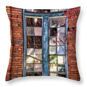The Factory Window Throw Pillow
