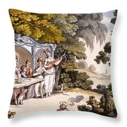 The Fair Penitent, From Ackermanns Throw Pillow by English School
