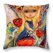 The Fairies Of Zodiac Series - Virgo Throw Pillow
