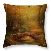 The Fairy Forest In The Fall Throw Pillow