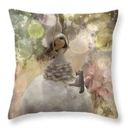 The Fairy Of Winter Lights Throw Pillow