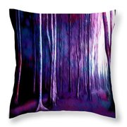 The Fairy Tale Forest Throw Pillow